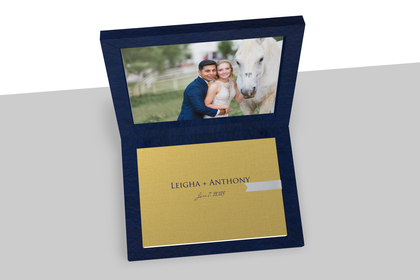 another online mockup so the couple can see what to expect from the finished product.