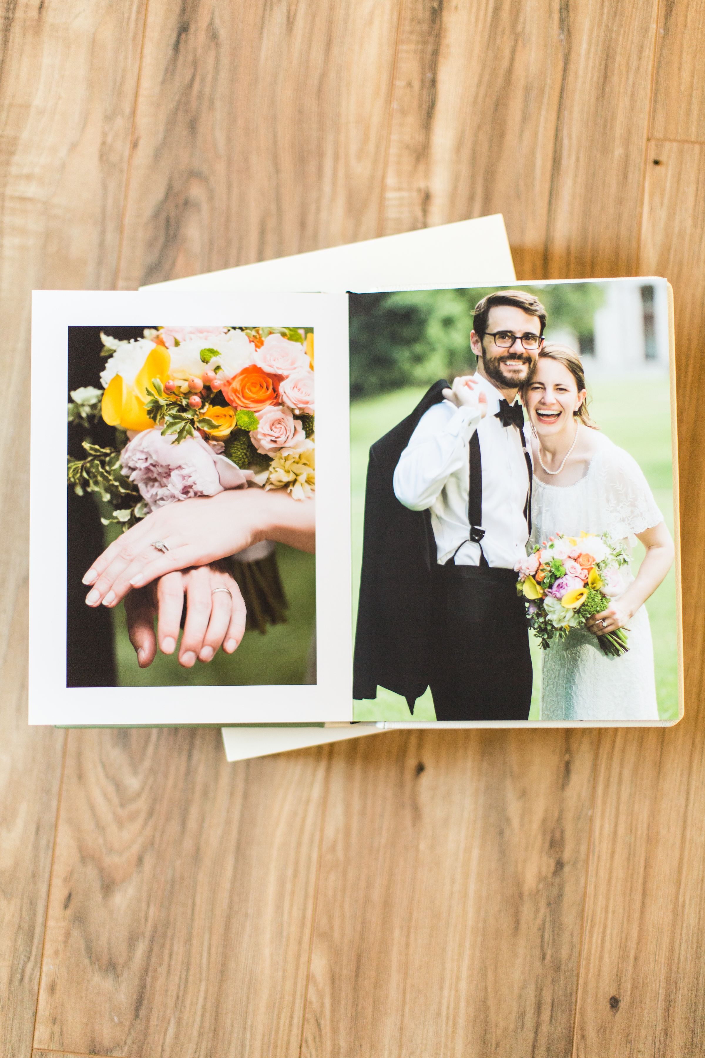 DO I GET TO SEE WHAT MY ALBUM LOOKS LIKE BEFORE IT'S PRINTED? - Of course! After delivery of the wedding images, I will send you a preliminary design for your wedding album. I do this because it helps you to have at least a starting point to work with, and see how your favorite images will fit into the design. The albums are designed to flow and tell a story, not just place a myriad of pictures on every page. To do this, I make use of negative space, panoramas, and multi-image spreads. Ultimately, however, you get the final say and will be able to review the interior and exterior designs before it is sent to the craftsmen in Italy.