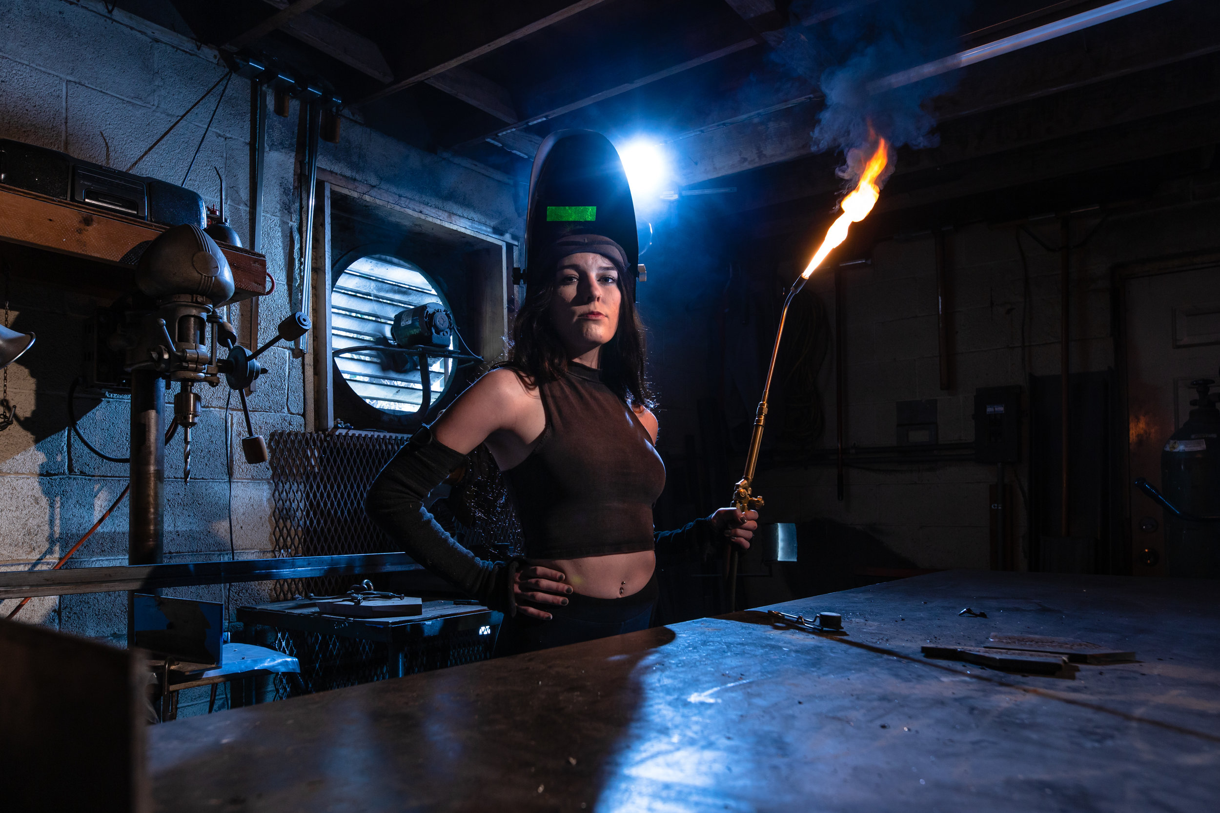 Marisa Mitchell of Mars Fabrication, custom ironworker