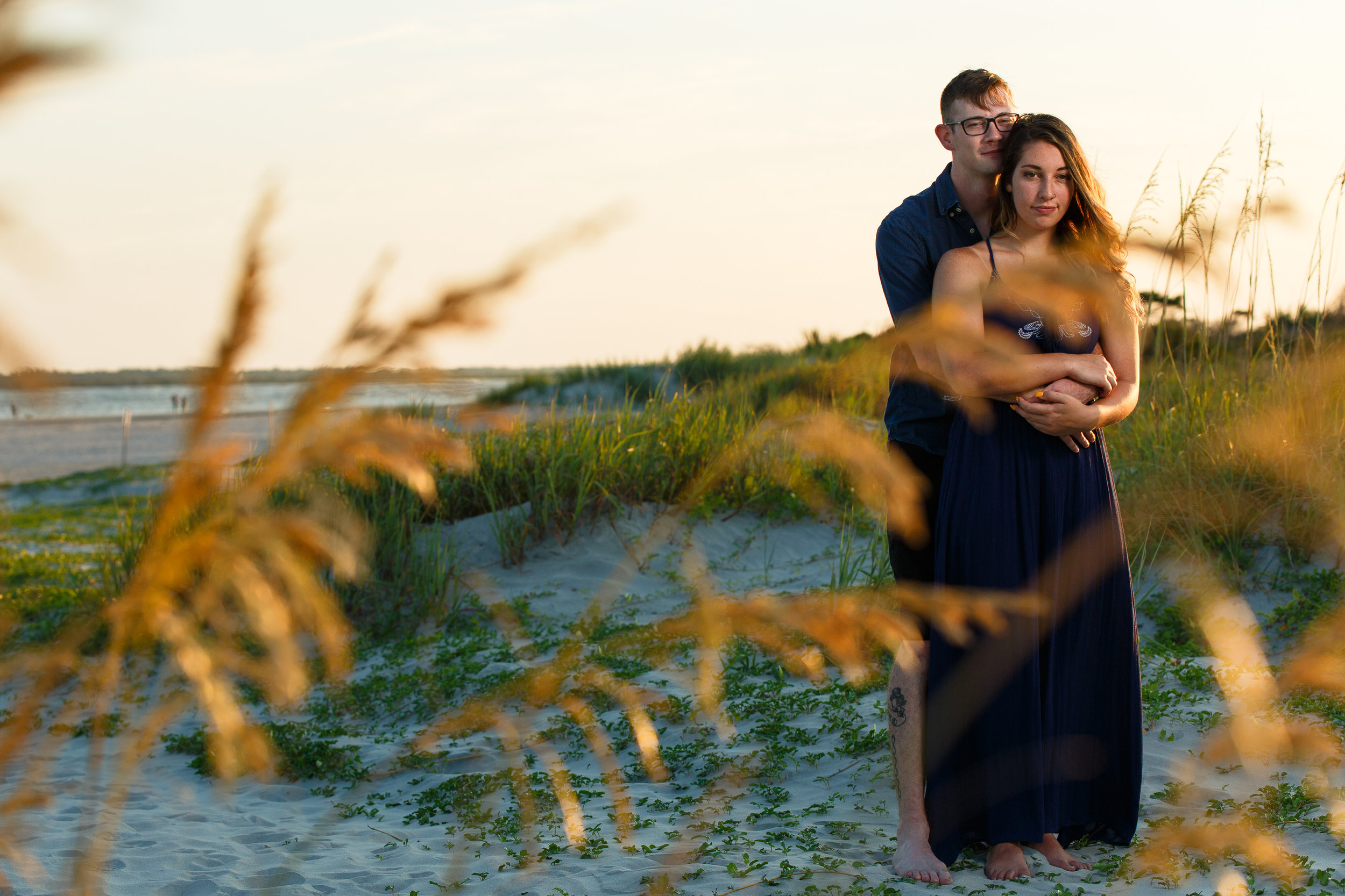 Couple by Beach Grass