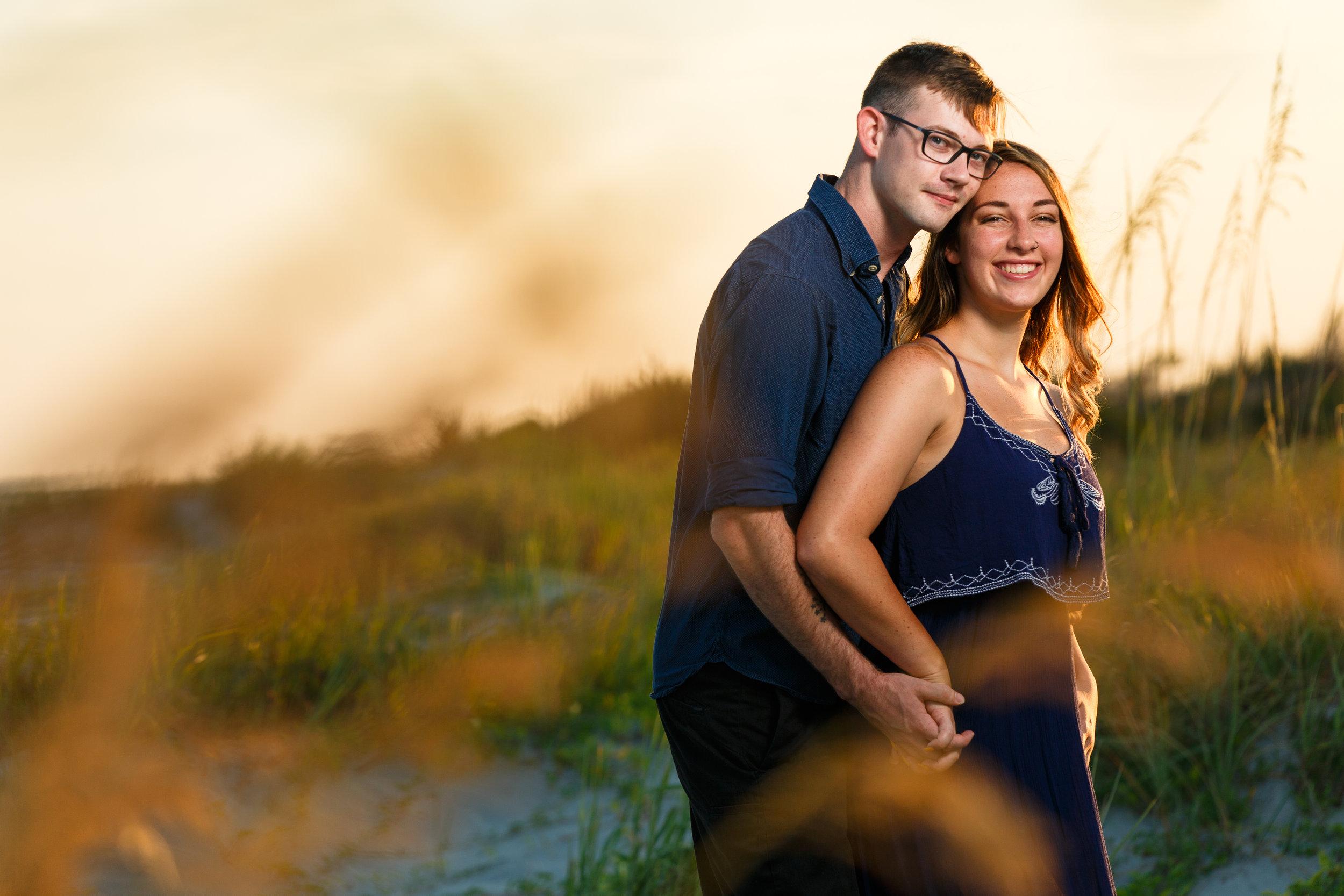 Couple in Beach Grass