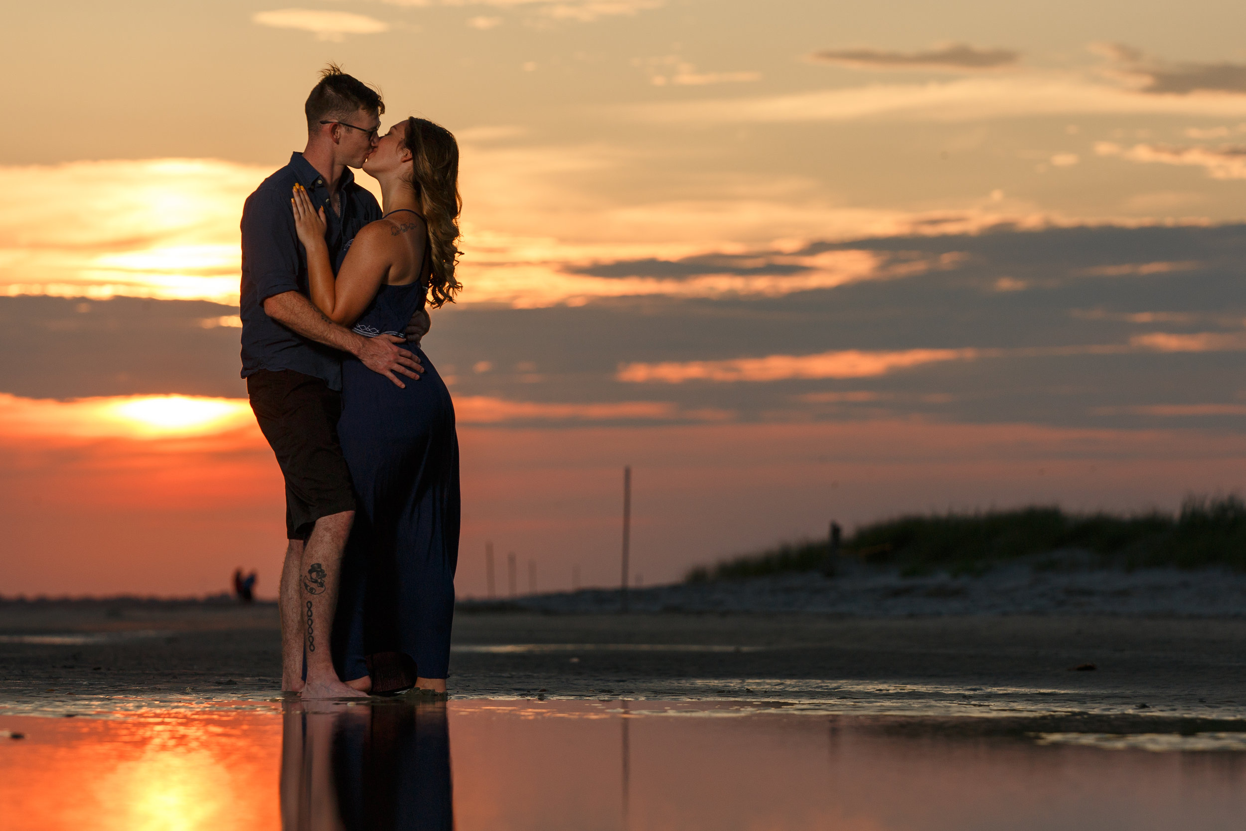 Couple with Setting Sun