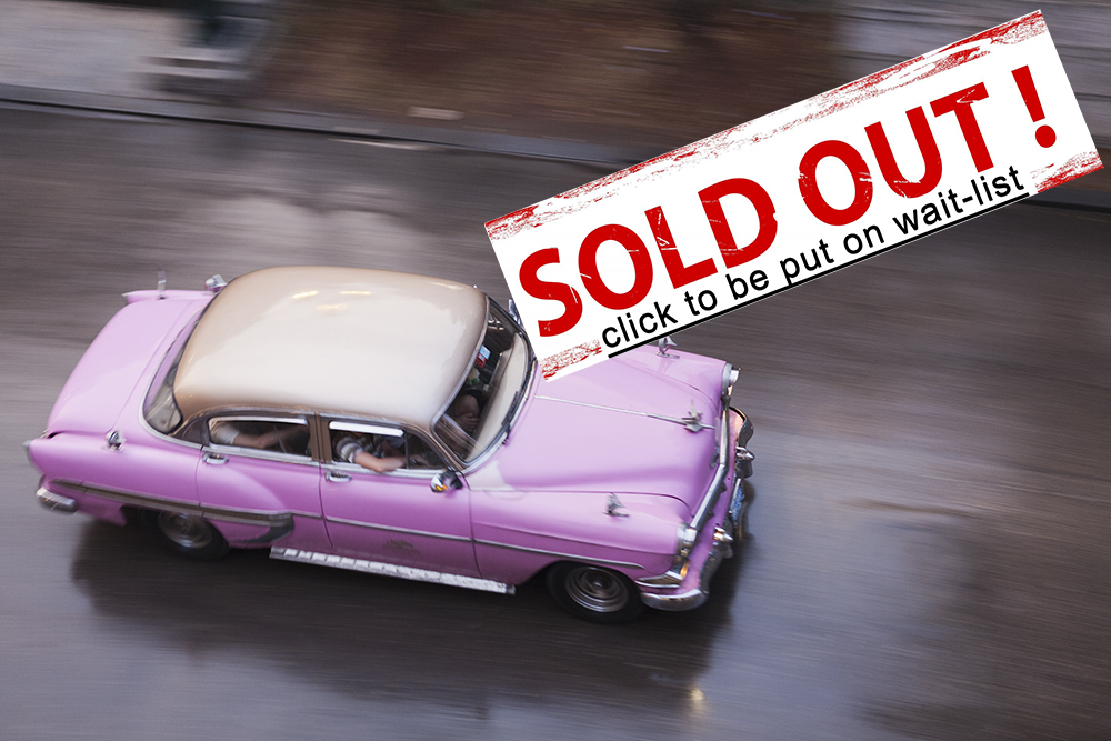 April 28-May 5, 2015   Havana   8 days    SOLD OUT.  Click  here  to be added to the wait-list
