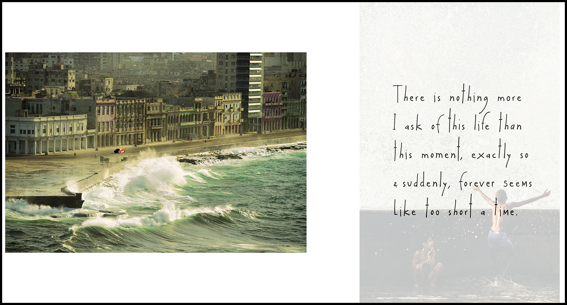 © Lorne Resnick - a spread from his book:  Cuba, This Moment, Exactly So.