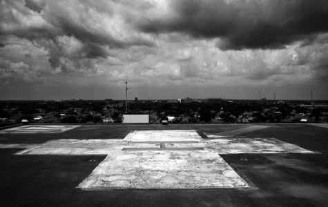 The helipad at Memorial Medical Center.  Paolo Pellegrin/Magnum