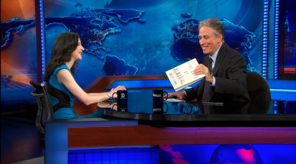 Discussing  Five Days at Memorial  on  The Daily Show with Jon Stewart.