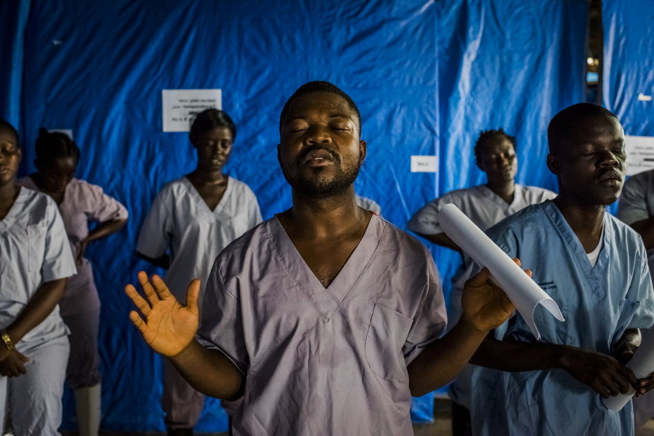"""""""The Ebola Ward,"""" a series chronicling the Ebola outbreak from an American-run clinic in rural Liberia, for  The New York Times."""