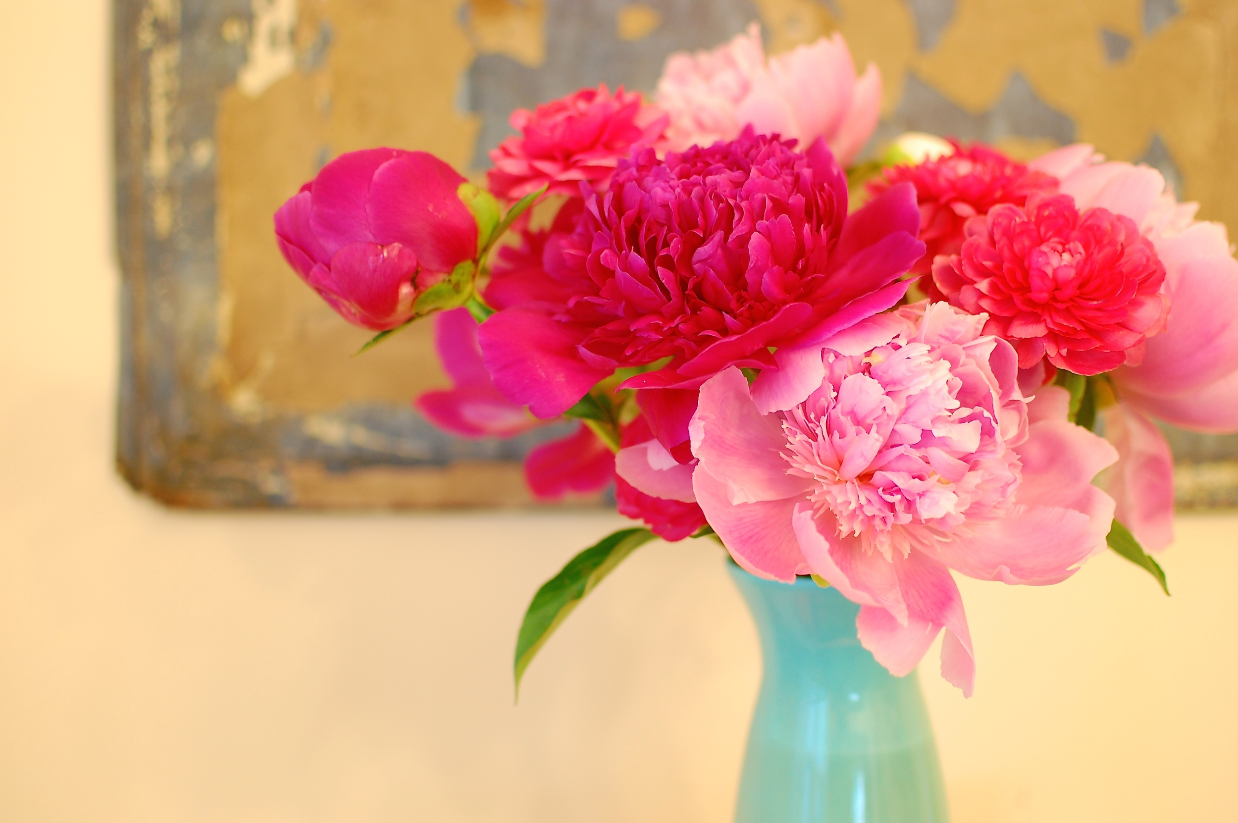Peonies and ranunculus - the perfect pair