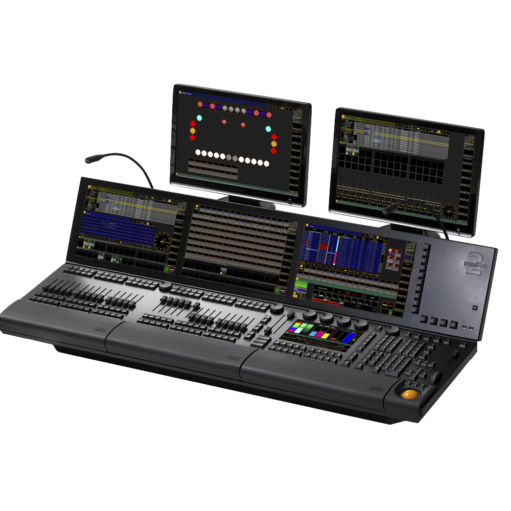 - The grandMA2 full-size represents MA Lighting's most powerful console and offers the control of conventional light, moving lights, LED fixtures and media from one platform.