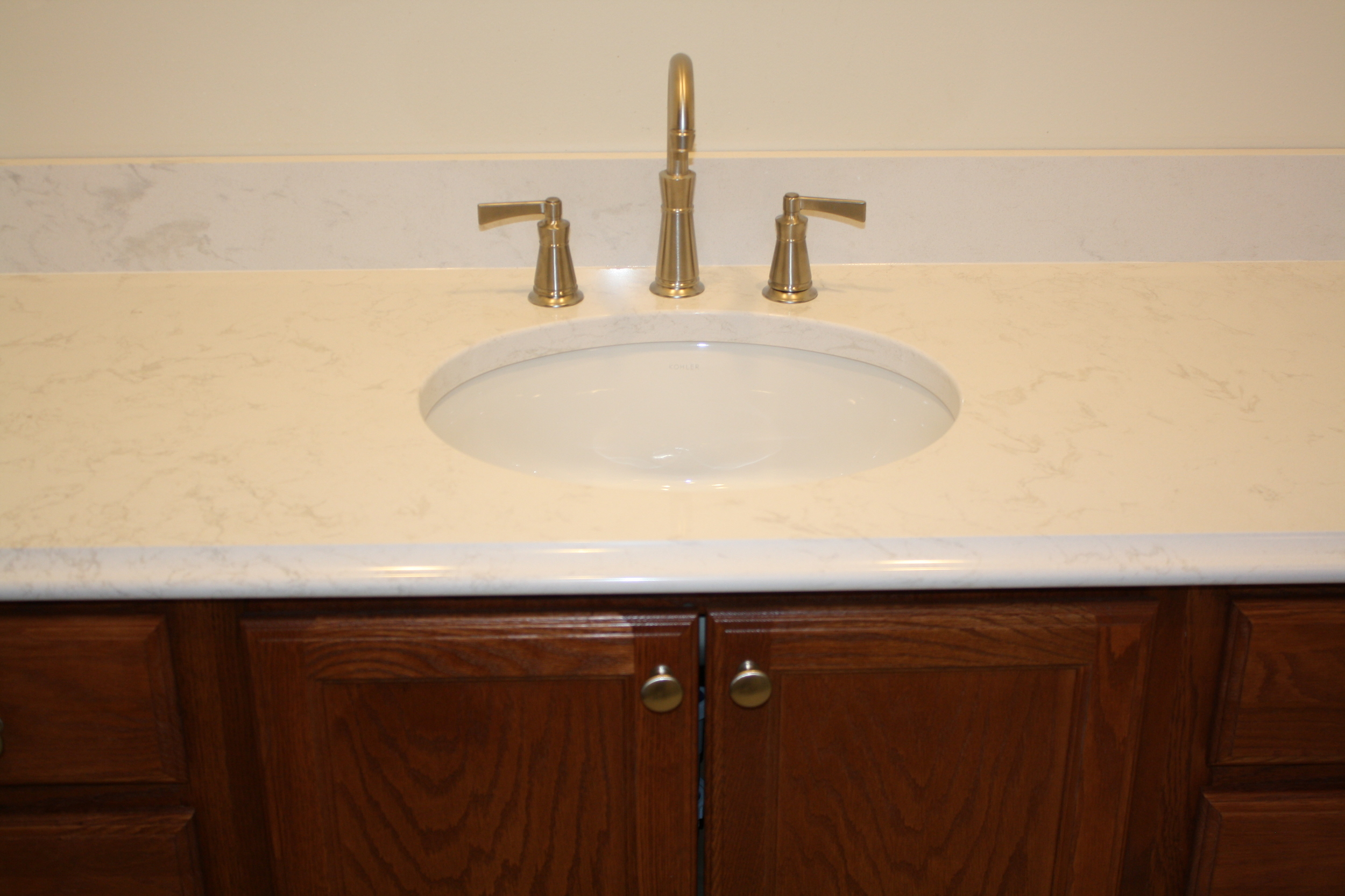 Diamond Cabinetry, with Cambria top