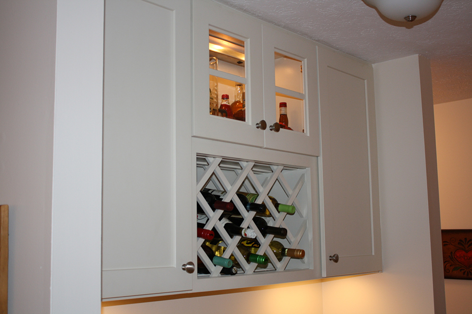 Cabinets with Wine Rack in Cincinnati Ohio