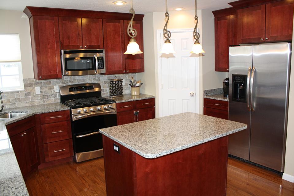 Countertop, Sink and Island Kitchen Design.