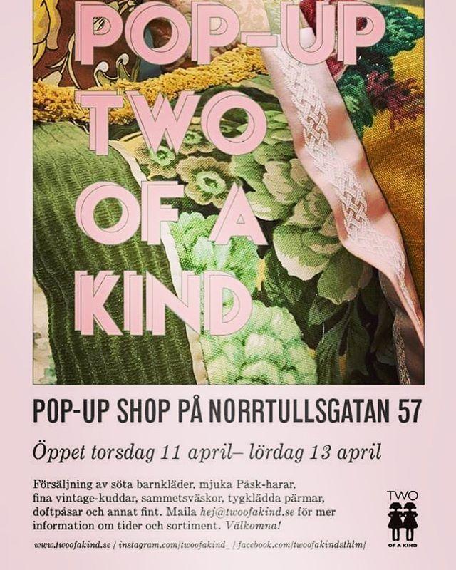 För er i Stockholms trakten finns det möjlighet att tillfälligt besöka och hitta favorit-saker i min källarverkstad på Norrtullsgatan 57 torsdag 11/4-lördag 13/4.  Ring eller maila för mer info. #popup