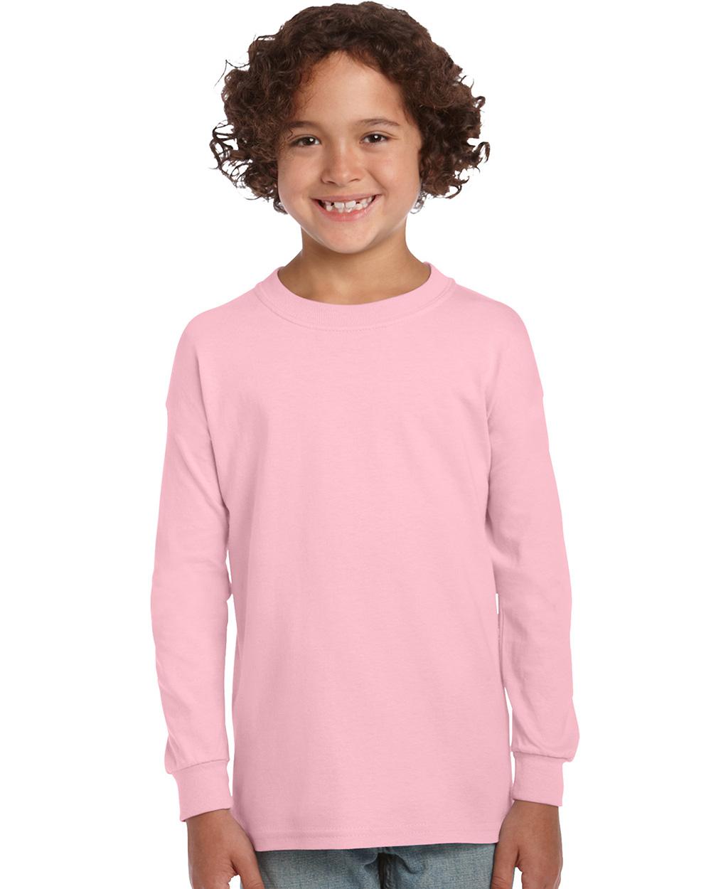 Gildan 2400B     Ultra Cotton™    Classic Fit Youth Long Sleeve T-Shirt    6.0 oz. 100% Cotton