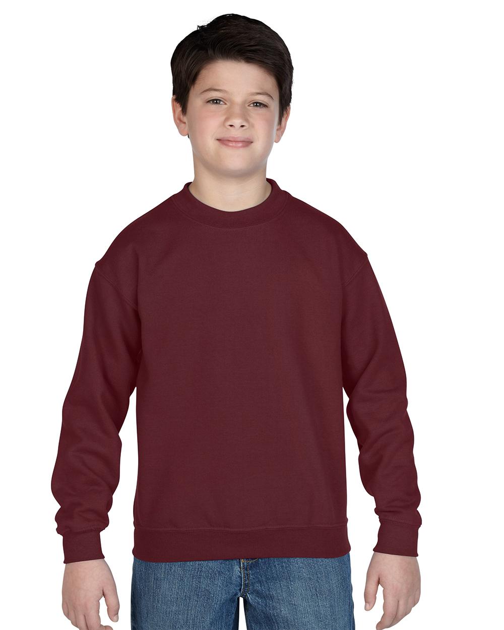 Gildan 18000B     Classic Fit Youth Crewneck Sweatshirt    50% Cotton / 50% Polyester Fleece
