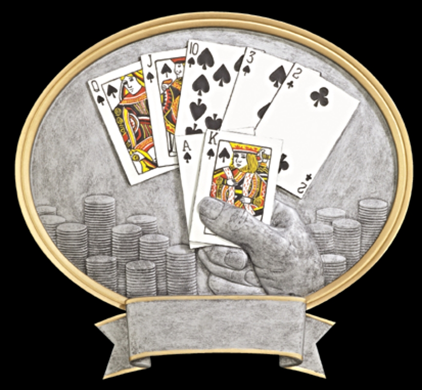 """Texas Hold'em:   Small - not available  Large - 8"""" wide - 54373GS"""