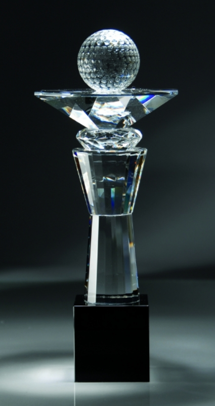 "Golf Ball Crystal Award   CRY123 - 13"" tall x 5.25"" wide   Price = $227"