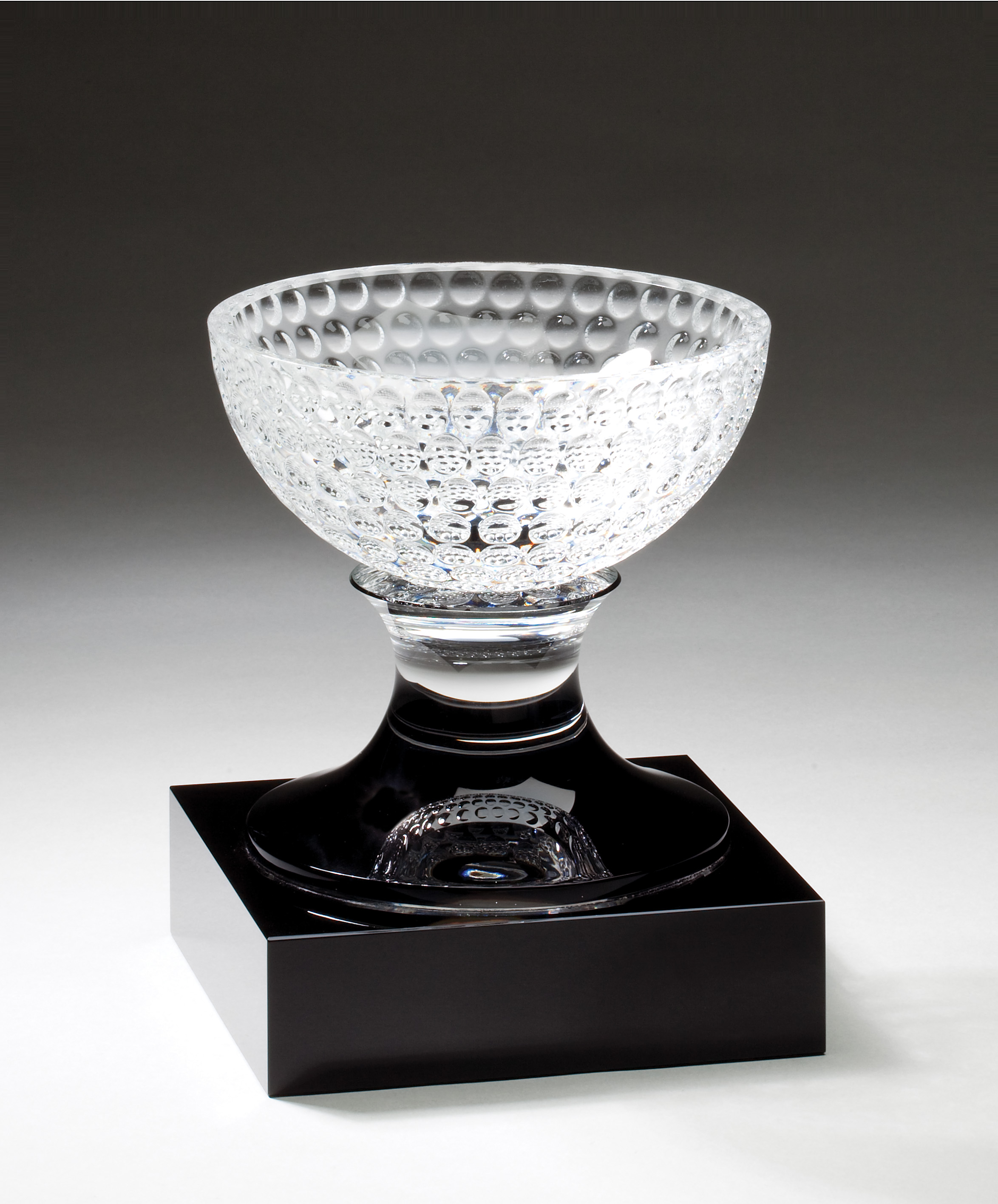 "Crystal Golf Ball Bowl   CRY339 - 7"" tall x 5.5"" wide   Price = $428"