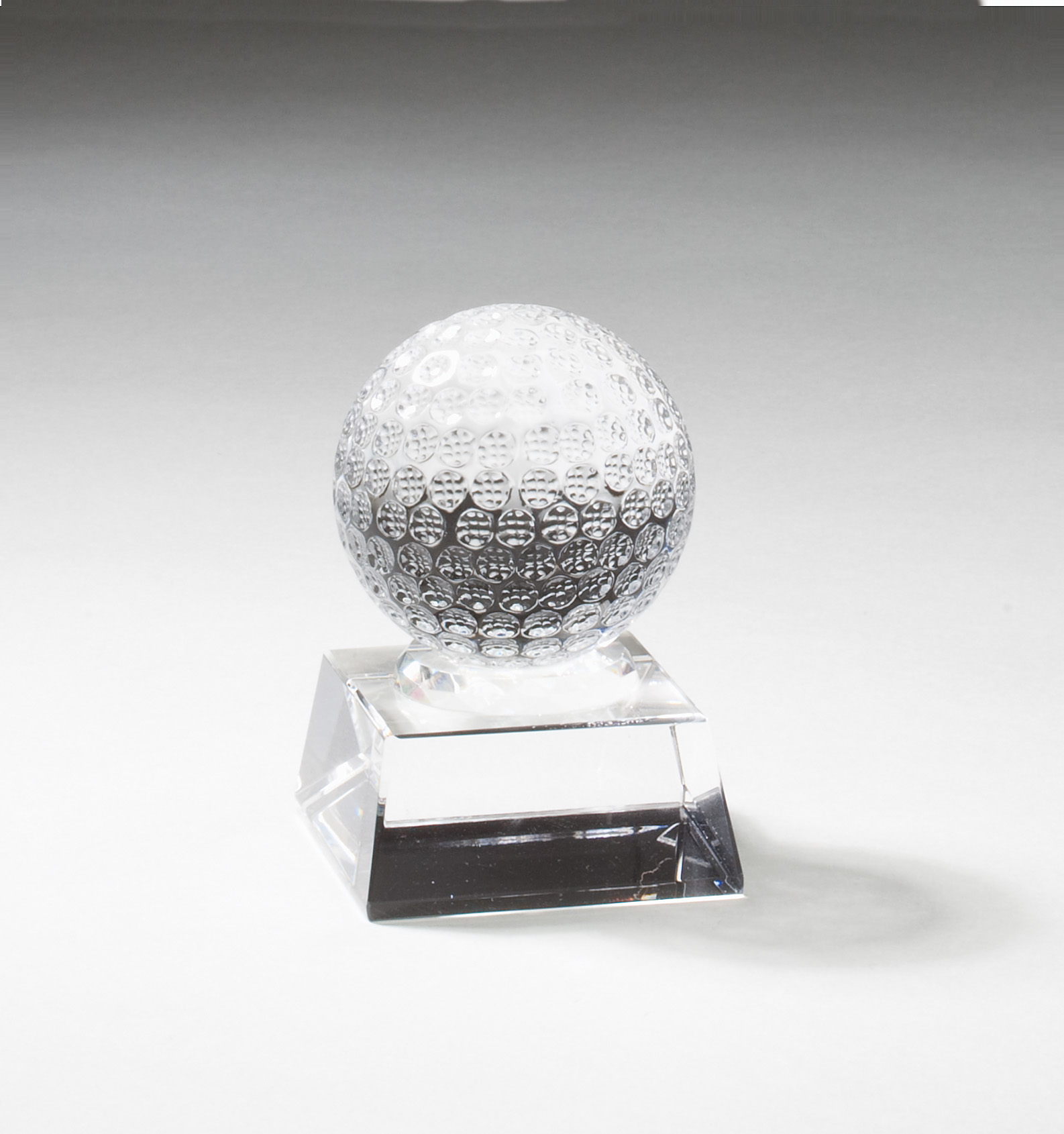 "Small Crystal Golf Ball   CRY267 - 3.5"" tall x 2.5"" wide   Price = $34"