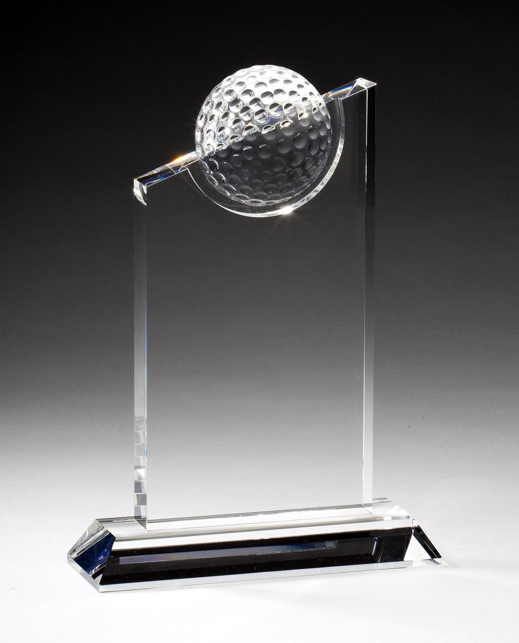 "Crystal Golf Peak    Large:  CRY182 - 9.5"" tall x 6"" wide -  $105    Medium:  CRY181 - 8"" tall x 6"" wide -  $92    Small:  CRY180 - 7.25"" tall x 5.5"" wide -  $85"