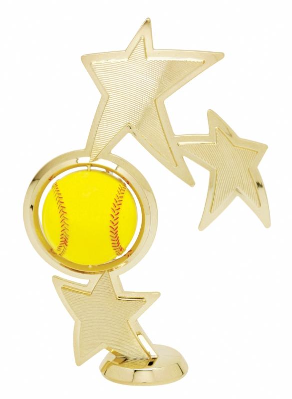 "Spin Sport Softball   45520-G - 8"" tall  With Spinning Softball"