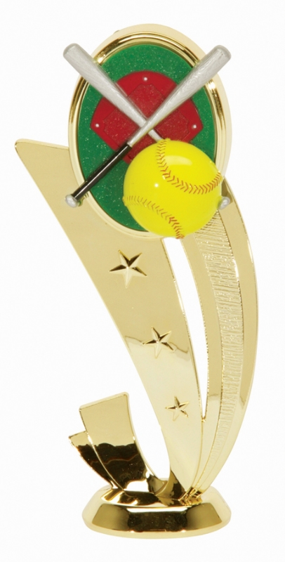 "Sport Scene Softball   3555-G - 6.5"" tall"