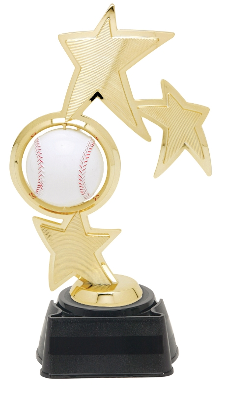 """Spin Sport Baseball   45503-G - 8"""" tall with Spinning Baseball  Shown on Base"""