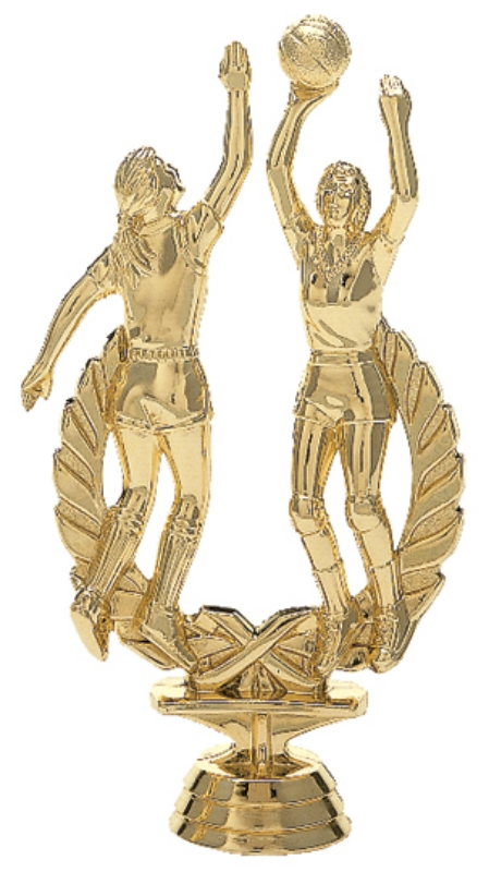 """Wreath Double Action - Female   1444-G - 6.25"""" tall"""
