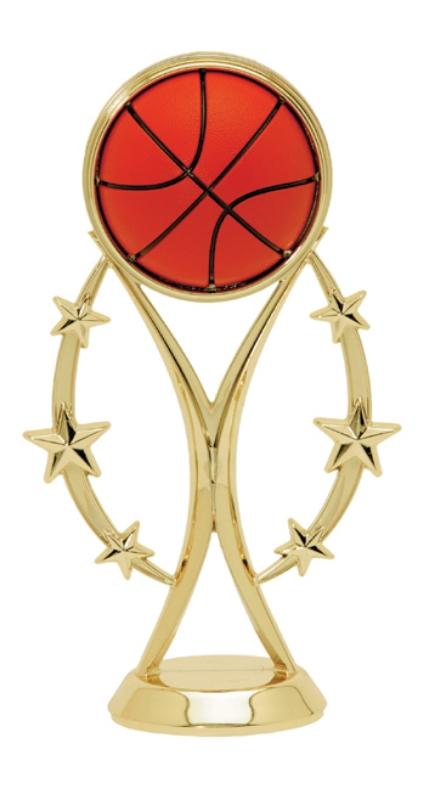 "Color Sport Basketball   8505-G - 6"" tall"