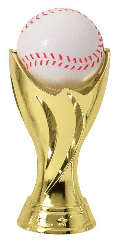 "Pedestal Spin Baseball   SPIN 12-02 - 5.25"" tall w ith Spinning Baseball"