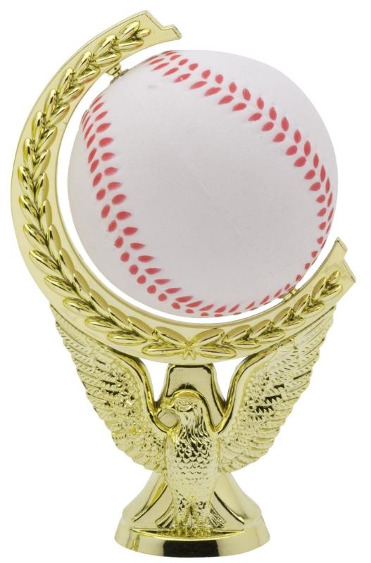 "Spinning Soft Ball Baseball   SPIN9-02 - 5"" tall -Spinning Ball is made of Soft Foam"