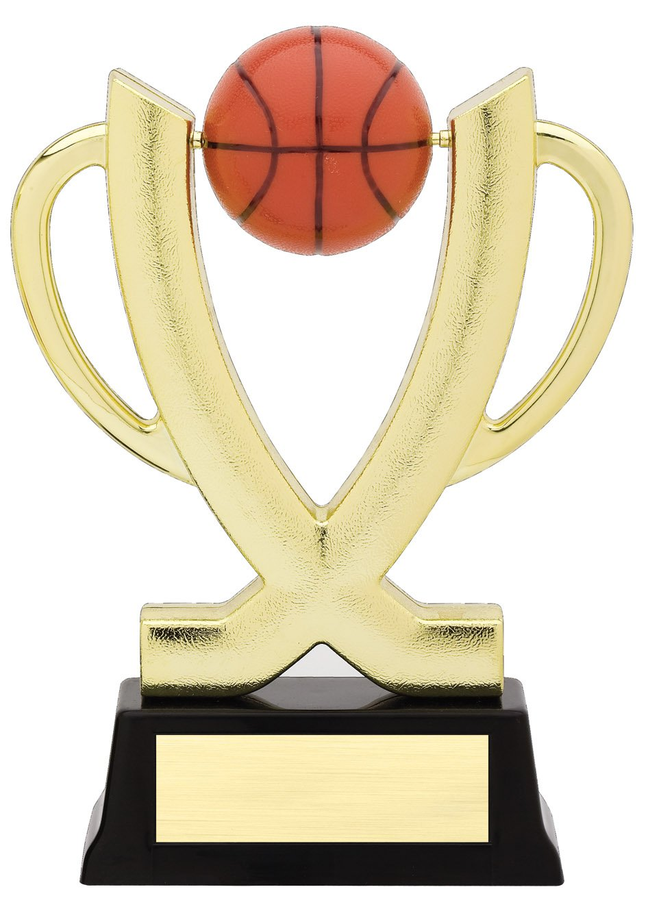 """Cup Spinner - Basketball   SPIN 11-03 - 7.5"""" tall - with Spinning Basketball"""