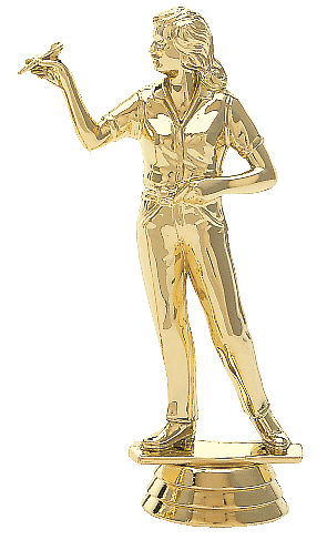"Dart Thrower - Female   5002-G - 5"" tall"