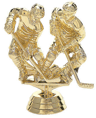 """Double Action Hockey - Male   1449-G - 4"""" tall"""