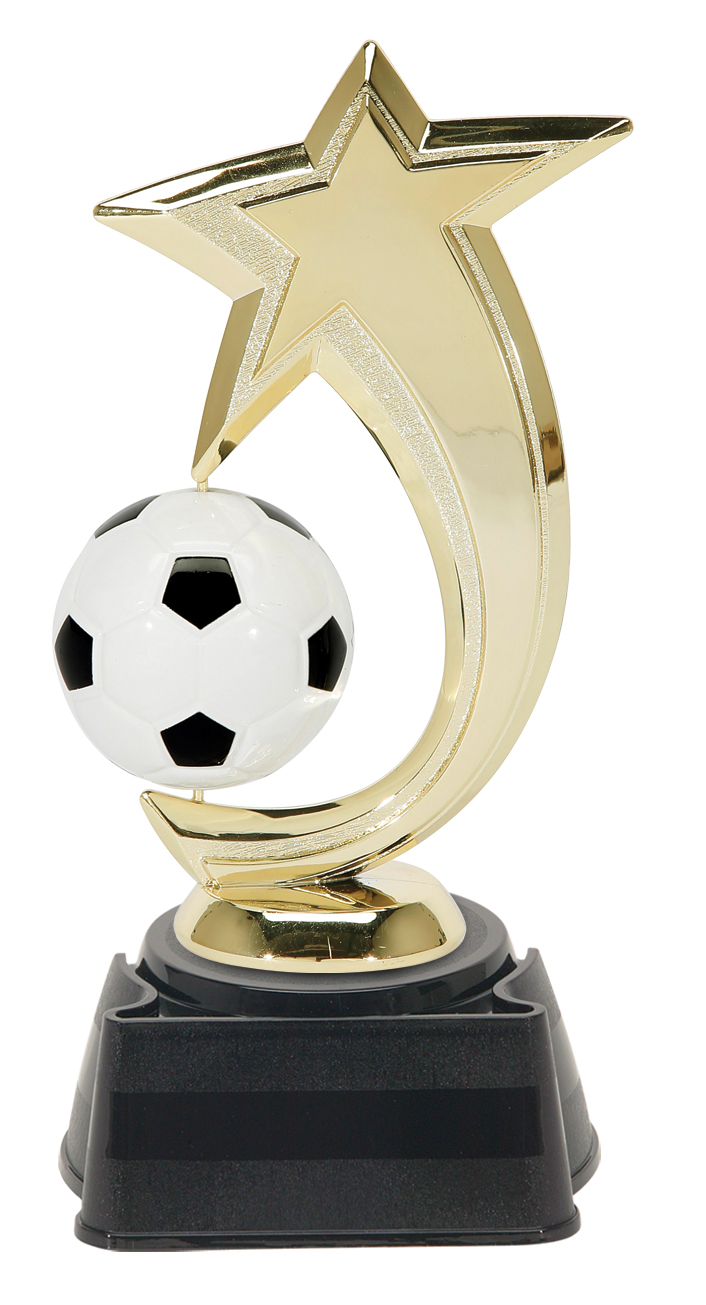 """Shooting Star Spinner - Soccer   47515-G - 6"""" tall with Spinning Soccer Ball  Shown on Base"""