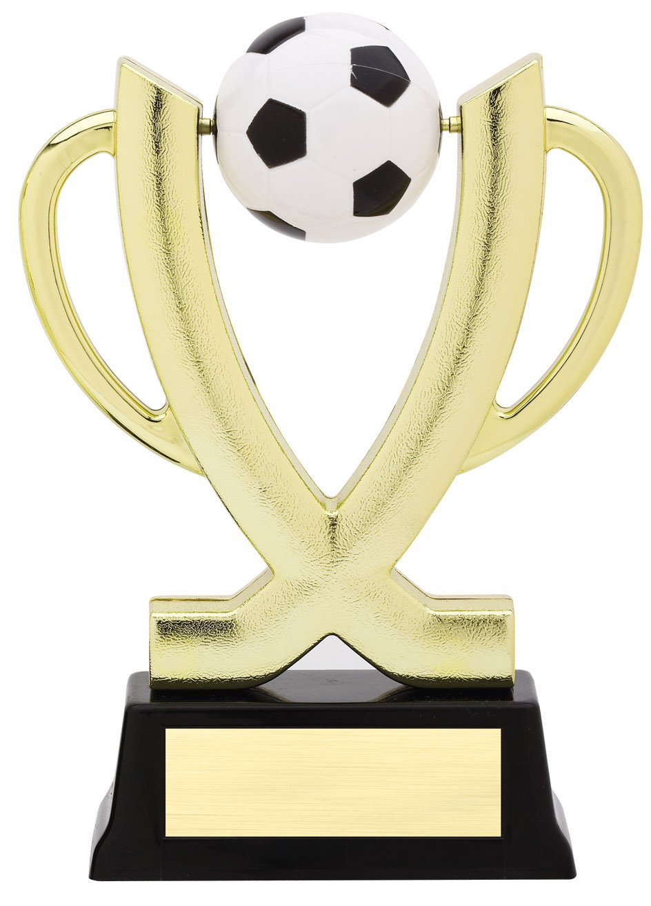 """Cup Spinner - Soccer   SPIN 11-13 - 7.5"""" tall with Spinning Soccer Ball"""