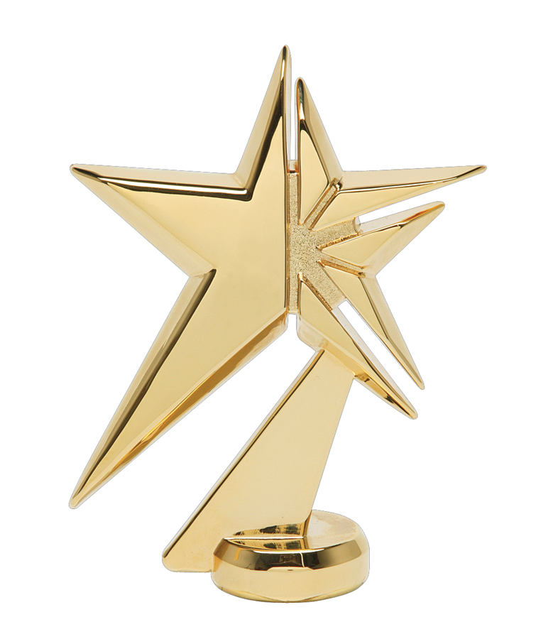 """Zenith Star - Gold - Metal   1078-G - 4.75"""" tall"""