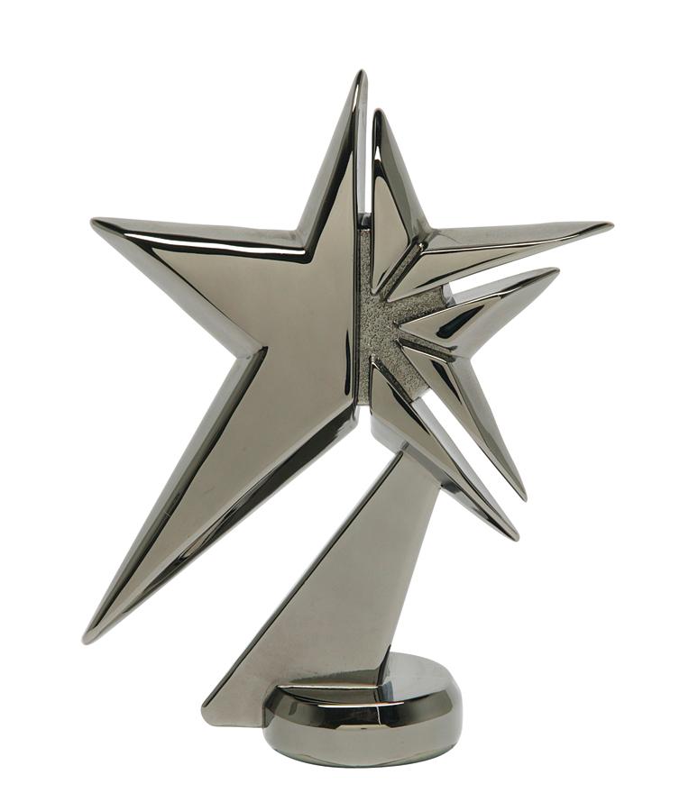 """Zenith Star - Black Pearl - Metal   1078-K - 4.75"""" tall"""