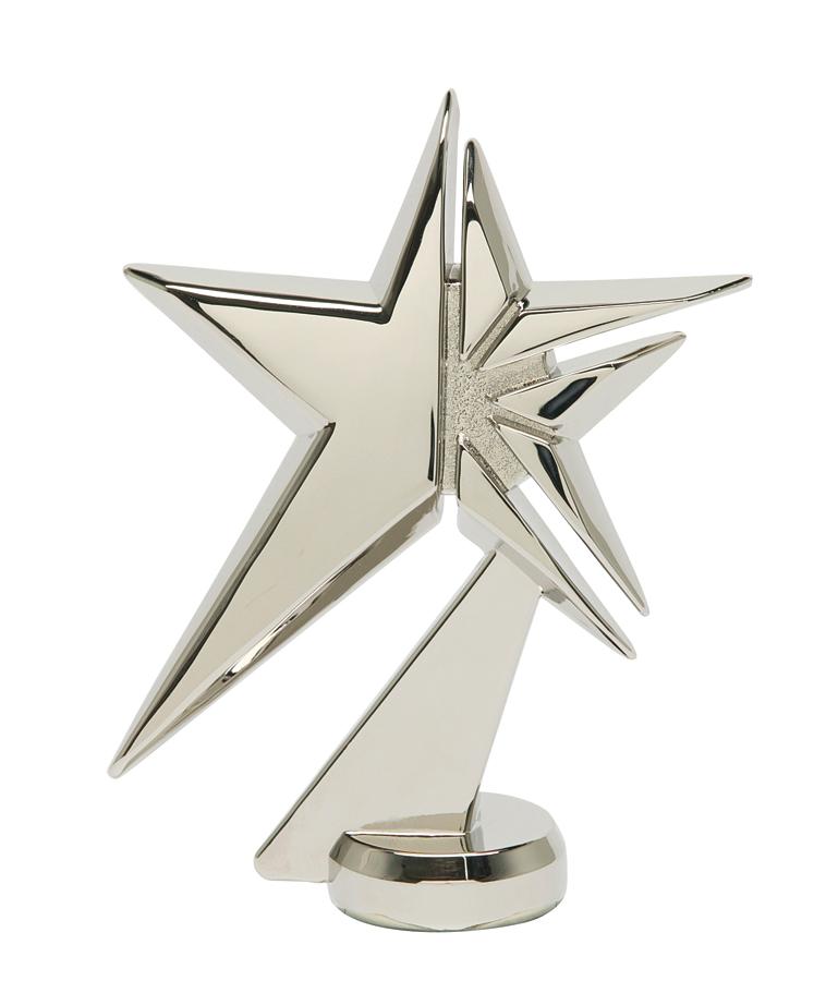 "Zenith Star - Silver - Metal   1078-S - 4.75"" tall"