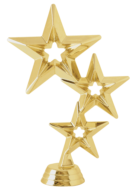 """Star Cluster - Gold   5061-G - 6"""" tall"""