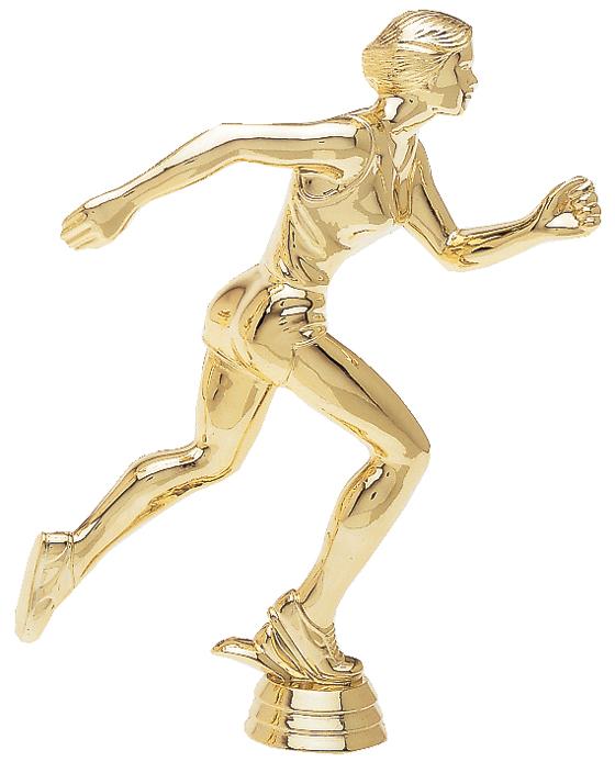 """Runner - Female   1514-G - 8.5"""" tall  616-G - 5.25"""" tall  414-G - 4"""" tall"""