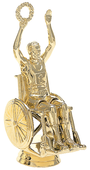 "Wheelchair Victory - Male   6001-G - 4"" tall"