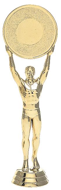 "Victory 2"" Mylar Holder - Male   6011-G - 6.5"" tall"