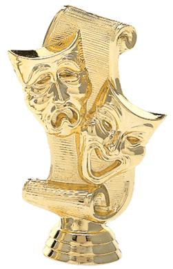 """Drama Mask   561-G - 4.5"""" tall"""