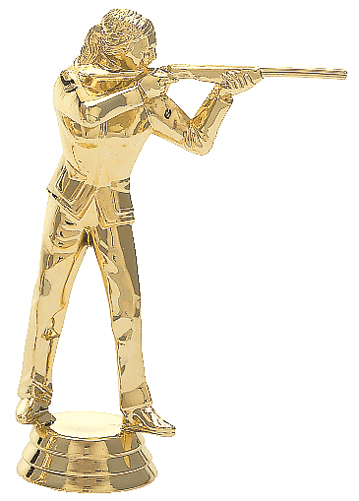 "Trapshooter - Female   544-G - 5"" tall"