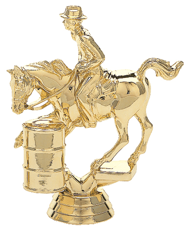 "Barrel Racing - Male   718-G - 4.5"" tall"