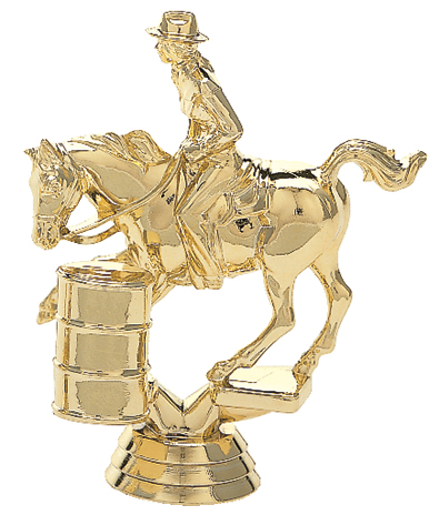 "Barrel Racing - Female   719-G - 4.5"" tall"