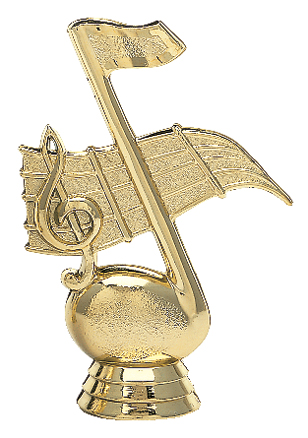 """Music Note   426-G - 4.25"""" tall"""