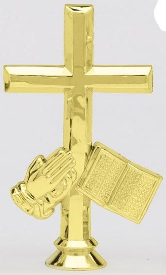 """Cross, Bible & Hands   F1330 - 4.5"""" tall"""