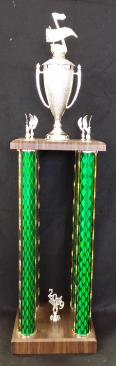 """4-Post Trophy   Prices start at $80 for 32"""" tall"""